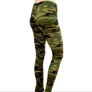 NEW Soft Brushed Leggings Khaki Camo Colored